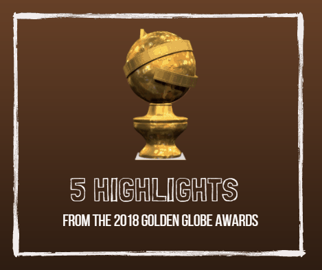 5 Highlights from the 2018 Golden Globe Awards